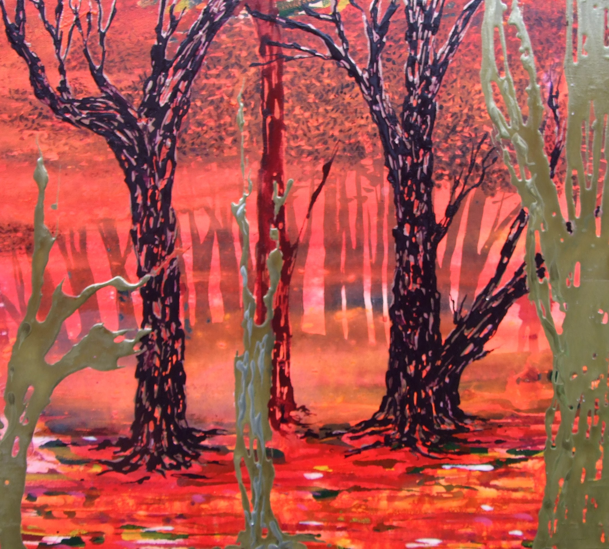 front room red trees detail 3a